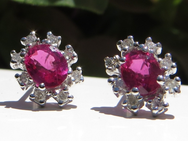 Diamond, Diamonds, Diamond Halo, Diamond Halos, Halo Earrings, Halo Earring, Earring, Earrings, Ruby, Rubies, Gold, White Gold, 14Kt Gold, 14Kt White Gold, Providence, Jewelry Store, Jewelry, Jeweler, Fine Jewelry, Custom, Custom-Made, Handmade, Platinum, Engagement, Wedding, Hegeman & Co.
